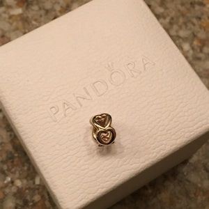 Pandora 14k Gold Open Heart Spacer Charm